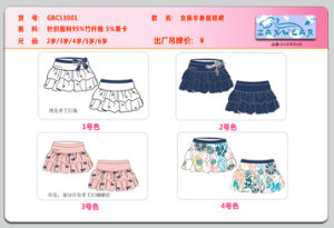 Girls Bamboo Cotton Clother Set Wholesale pictures & photos