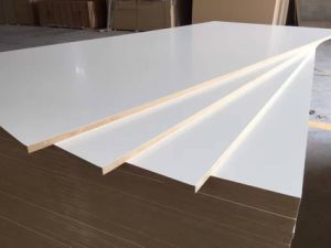 Warm White Melamine MDF Sales in 12mm 18mm From Factory pictures & photos