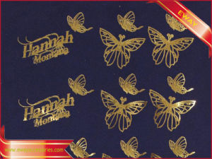 Gold Metallice Heat Transfer Label Iron on Clothing Label pictures & photos