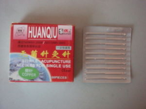 0.30X25mm Acupuncture Needle Without Tube, Silver/Copperr Handle - Huanqiu Brand pictures & photos
