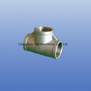 Pipe Fittings Stainless Steel Threaded Equal Tee pictures & photos