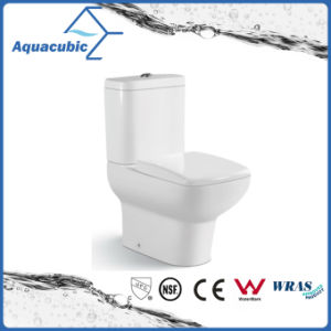Siphonic Two Piece Dual Flush Round Front Bowl Toilet (ACT7303) pictures & photos