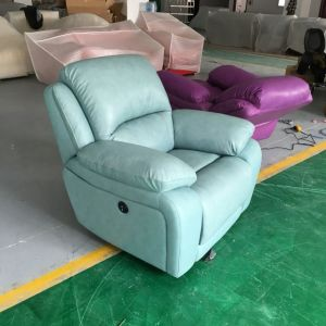 Blue Color Modern Recliner Sofa (721) pictures & photos