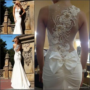 Ivory Mermaid Prom Dress One Shoulder Jeweled Evening Dresses E1331 pictures & photos
