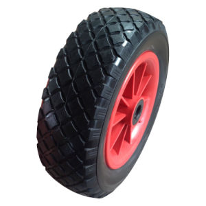 10 Inch 3.00-4 PU Foam Flatfree Trolley Wheel pictures & photos