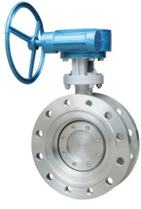 Double Flange Wcb A216 API 300lb Butterfly Valve with Gear Box