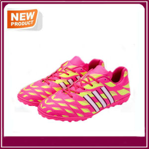 Men′s Sport Athletic Running Indoor Lace up Soccer Shoes pictures & photos