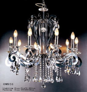 Zhongshan Factory Classic Glass Pendant Lamp Chandelier (OM931) pictures & photos