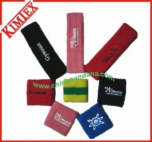 Unisex Spandex Cotton Terry Sports Embroidery Sweatband pictures & photos
