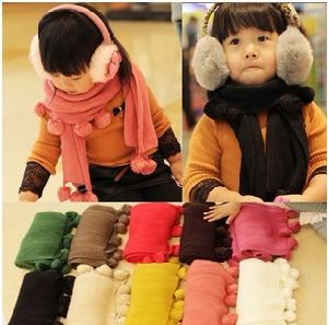 Winter Cute Custom Kids Fashion Knitted Cashmere Scarf pictures & photos