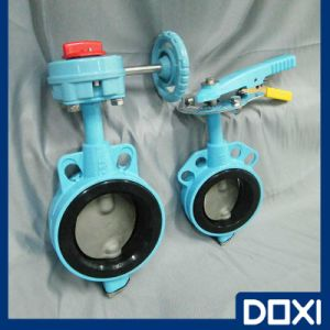 Wafer Type EPDM Half Lined Butterfly Valve pictures & photos