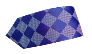 Checkered Ties Silk and Polyester Woven pictures & photos