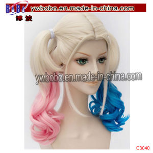 Halloween Carnival Clown Party Quinn Hair Cosplay Wigs Party Afro Wig (C3040) pictures & photos