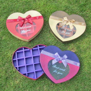 Heart-Shaped Cardboard Chocolate Box Candy Box with Clear Window pictures & photos