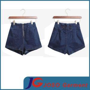 Women High Waist Zipped Shorts (JC6055) pictures & photos