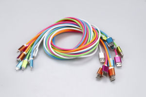 USB-- Cable Wholesale Multicolor Mobile Phone Data Cable 1meter for iPhone, Android, Samsung pictures & photos