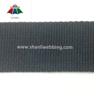 4cm Black Polyester Cotton Plain Weave Webbing pictures & photos