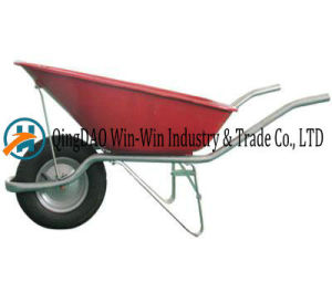 Red Wheelbarrow with Pneumatic Rubber /PU Wheel pictures & photos