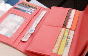 Elegant Korean Young Girl Crown Money Bag Genuine Leather Custom Wallet pictures & photos