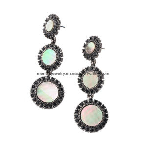 2 Colors European and American Retro Alloy Diamond Studded Long Dangling Drop Earrings pictures & photos