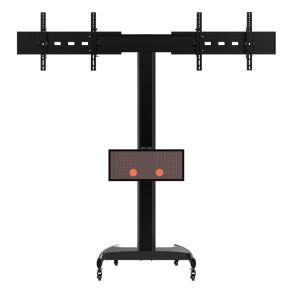"Public TV Floor Stand Dual Screen 30-60"" (AVA 203C) pictures & photos"