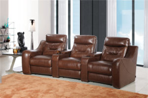 Living Room Sofa with Modern Genuine Leather Sofa Set (442) pictures & photos