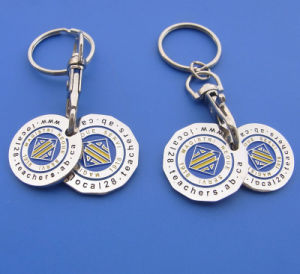 Customized Double Coins Metal Trolley Coins pictures & photos