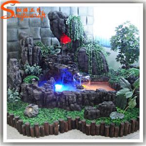 2015 Customized Outdoor Artificial Fiberglass Rock Waterfall pictures & photos