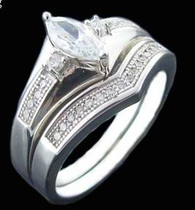925 Sterling Silver Emgagement Ring, Micropave Ring (R10116)