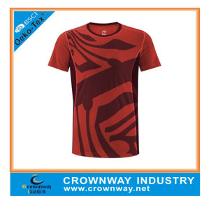 Custom Polyester Sublimation Running Sports T Shirt pictures & photos