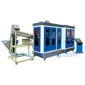 Fully automatic pet bottle blow moulding machine for handled bottle pictures & photos