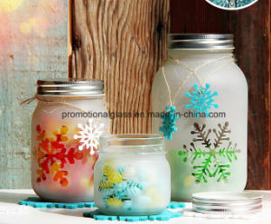 Frosted Mason Jar 250ml 500ml 1000ml pictures & photos
