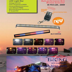 50′′ 288W Remote Control Multifunction RGB CREE LED Light Bar pictures & photos