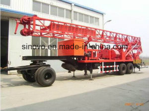 450m drilling depth trailer mounted SIN450T water well drilling rig pictures & photos