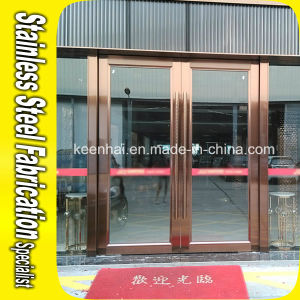 Exterior Commercial Stainless Steel Security Glass Entry Door pictures & photos