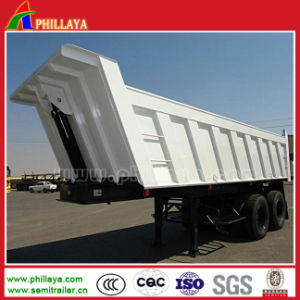 Low Price 2axles Semi Dump Truck/ Rear Tipper for Sale pictures & photos