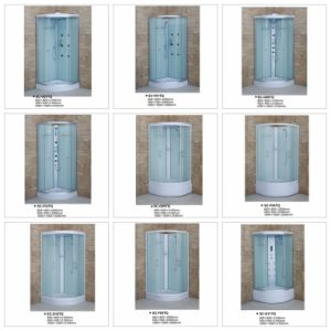Quadrat Tempered Fabric Glass Sliding Bathroom pictures & photos