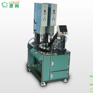 Double Head Large Plastic Product Ultrasonic Plastic Welding Machine pictures & photos