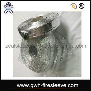 Aluminum Coated Fiberglass Heat Reflective Split Sleeve with Adhesive Closure pictures & photos