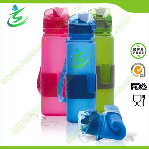 600ml Soft Silicone Foldbale Collaspsible Water Bottle pictures & photos