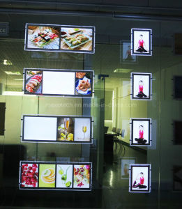 Double Side LED Advertising Slim Light Box, Magnetic Open (CDH03) pictures & photos