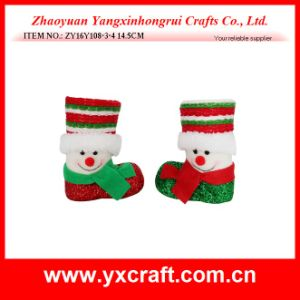 Christmas Decoration (ZY16Y108-3-4 14.5CM) Christmas Booth Christmas Supplies pictures & photos