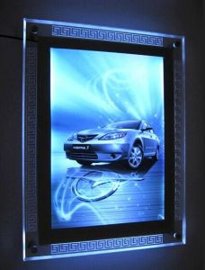 Hanging LED Crystal Slim Light Box with Cutout-Design pictures & photos