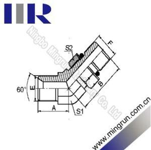 45 Elbow Bsp Male / SAE O-Ring Hydraulic Tube Fitting (1BO4-OG)