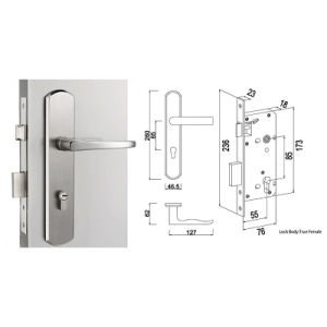 Stainless Steel Mortise Door Lock for Entrance and Privacy Door pictures & photos