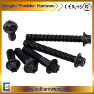 OEM Six Point Steel Hex Flange Bolt Black pictures & photos