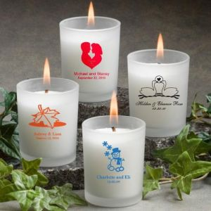 Printed Frosted Glass Candle Holder
