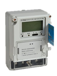 Single Phase Two Wire Prepaid Electronic Energy Meter pictures & photos