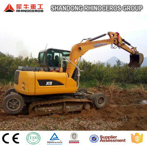 Best Seller 8t Wheel Crawler Excavator X8 for Sale with Yanmar Engine pictures & photos