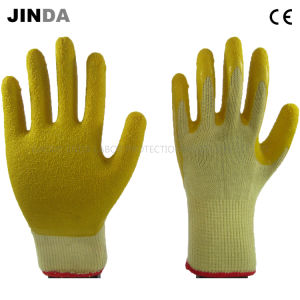 Crinkle Latex Coated Yarn Knitted Shell Labor Protective Work Safety Gloves (LS502) pictures & photos